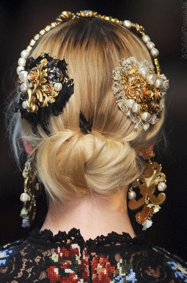 Dolce & Gabbana Closeup Runway Collection Fall Winter 2012-2013 at Milan Fashion Week